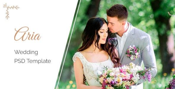 Aria - Wedding PSD Template - Portfolio Creative