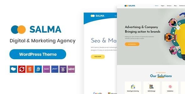 Salma - SEO Marketing WordPress Theme - Marketing Corporate