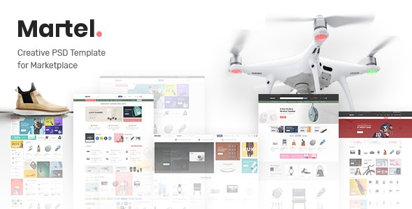 Martel - PSD Template for Marketplace - Retail Photoshop