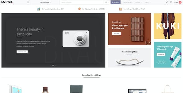 Martel - PSD Template for Marketplace