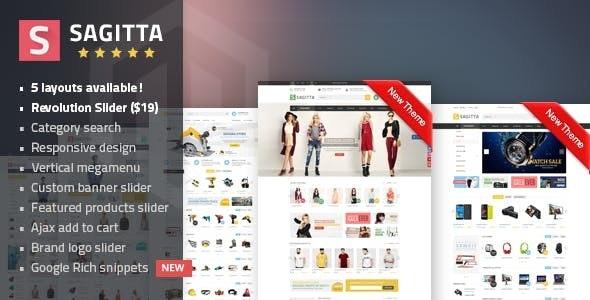 Sagitta - Mega Store Responsive Magento 1 & 2 Theme - Fashion Magento