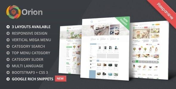 Orion - Mega Shop Responsive Magento Theme - Shopping Magento