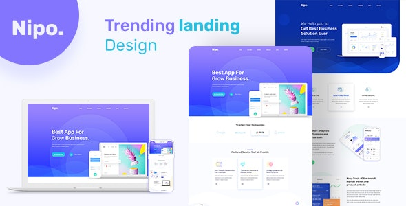 Nipo App Landing Psd Templated - Software Technology