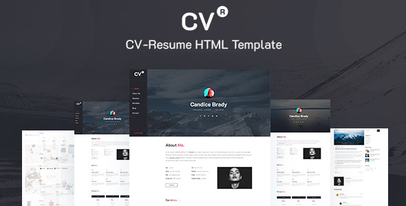 CVR- CV-Resume Template - Resume / CV Specialty Pages