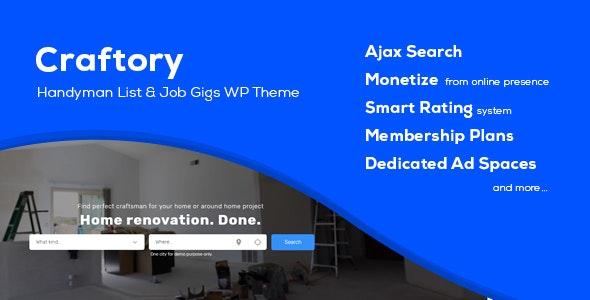 Craftory - Directory Listing Job Board WordPress Theme