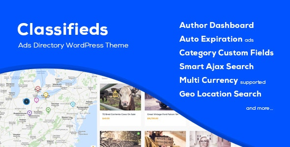Classifieds - Classified Ads WordPress Theme - Directory & Listings Corporate