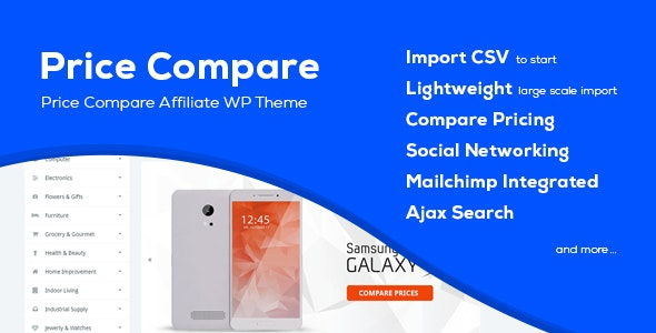 Price Compare - Cost Comparison WordPress Theme - Directory & Listings Corporate