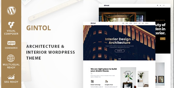 Gintol - Interior And Architecture WordPress Theme - Portfolio Creative