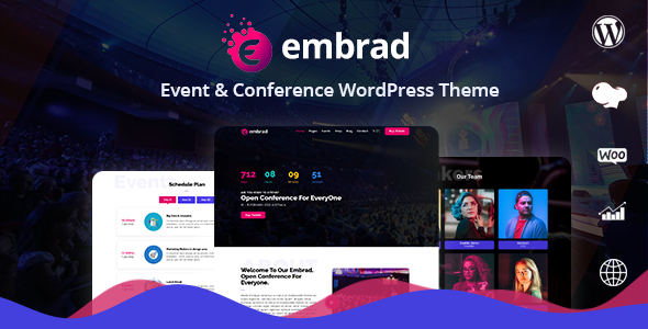 Embrad - Event & Conference WordPress Theme - Events Entertainment