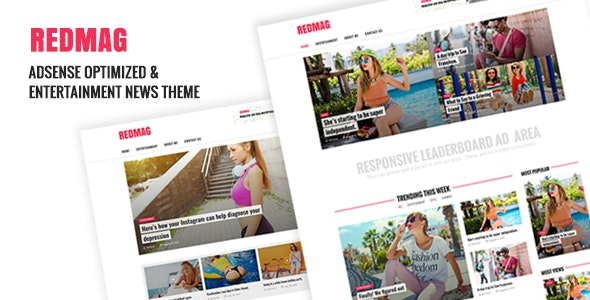 RedMag - AdSense Optimized & Entertainment News Theme - News / Editorial Blog / Magazine