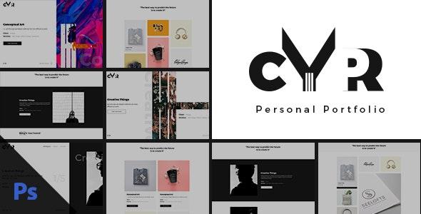 Cypr - Personal Portfolio PSD Template - Portfolio Creative