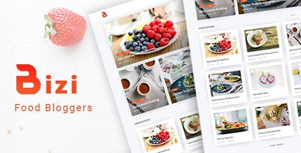 Bizi - A WordPress Theme for Food Bloggers - Blog / Magazine WordPress