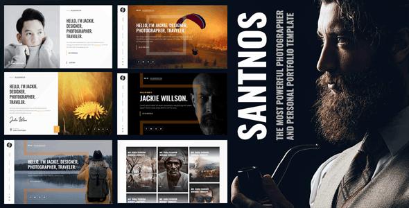 Santnos - Personal Portfolio & Photographer Template - Portfolio Creative