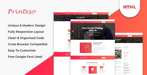 Printeso - Printing Agency Business HTML Template - Business Corporate