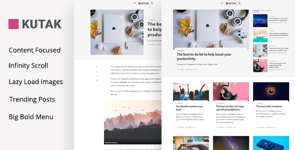 Kutak - Creative Personal Blog & Minimal Magazine WordPress Theme - Blog / Magazine WordPress