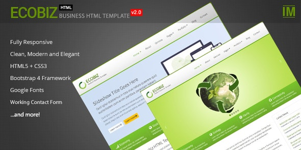 ECOBIZ -  Business and Corporate HTML Template - Business Corporate