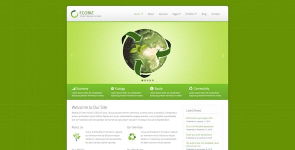 ECOBIZ -  Business and Corporate HTML Template