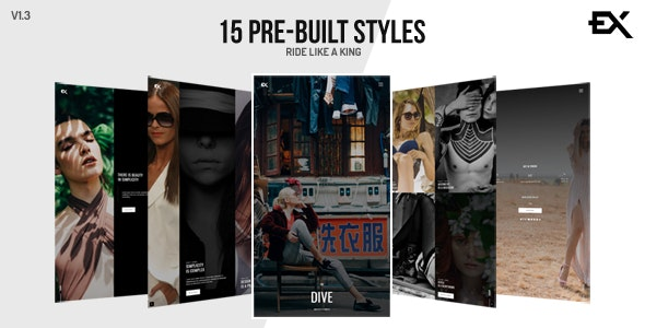 The Dive || Creative One Page Photography / Portfolio Template - Portfolio Creative