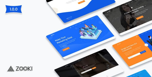 Zooki - Landing Page Template - Landing Pages Marketing