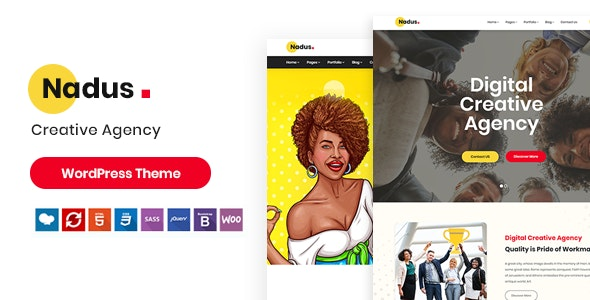Nadus - Creative WordPress Theme - Portfolio Creative