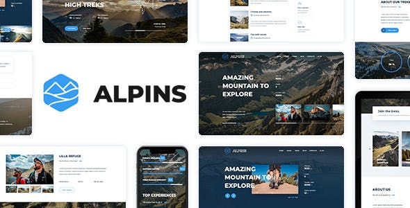 Alpins - Mountain And Hiking Template