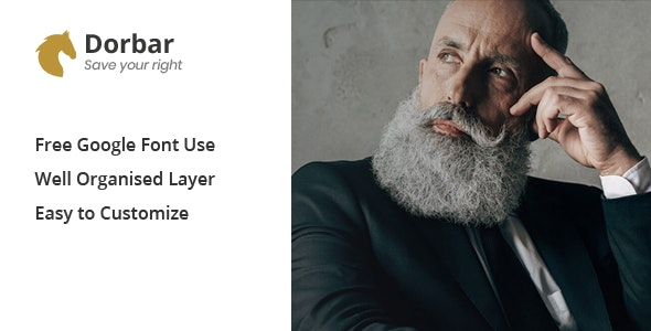 Dorbar - Modern Law Firm HTML Template - Business Corporate
