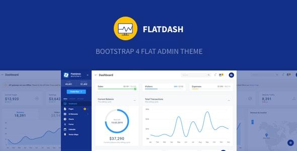 FlatDash - Bootstrap 4 Flat Admin Theme - Admin Templates Site Templates