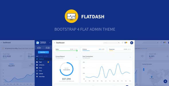 FlatDash - Bootstrap 4 Flat Admin Theme