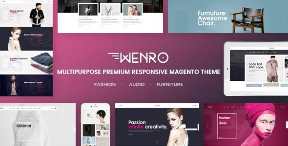 Wenro - Multipurpose Responsive Magento 2 Theme | 16 Homepages Fashion, Furniture, Digital and more - Fashion Magento