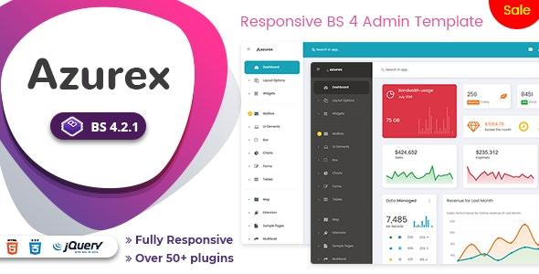 Azurex - Bootstrap 4 Admin Dashboard Template - Admin Templates Site Templates
