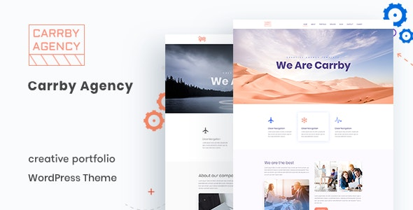 Carrby - Agency Portfolio WordPress Theme - Portfolio Creative