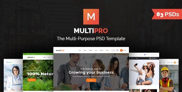 MultiPro   Multi-Purpose PSD Template - Business Corporate