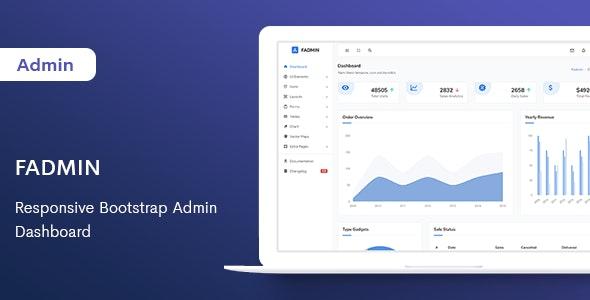 Fadmin - Responsive Bootstrap Admin Dashboard - Admin Templates Site Templates