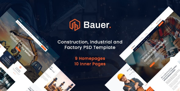 Bauer - Construction PSD Template - Creative PSD Templates