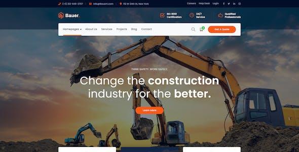 Bauer - Construction PSD Template