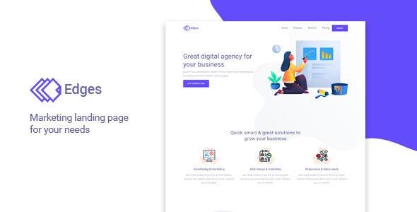 Edges - Multipurpose Landing Page Template - Landing Pages Marketing