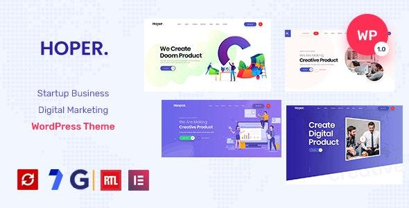 Hoper - Digital Marketing & Startup  Theme - Marketing Corporate