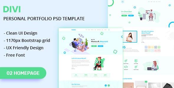 DIVI - Personal Portfolio PSD Template