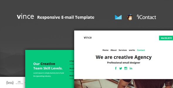 Vince Mail - Responsive E-mail Template + Online Access - Email Templates Marketing