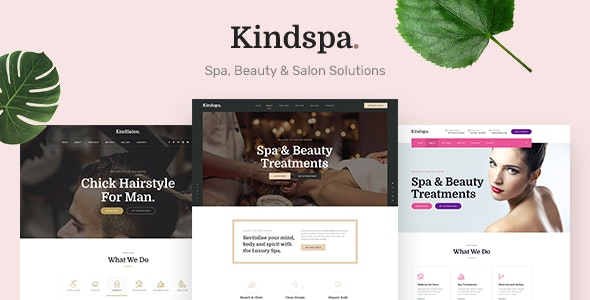 Kindspa - Spa and  Beauty Salon HTML5 Template - Health & Beauty Retail