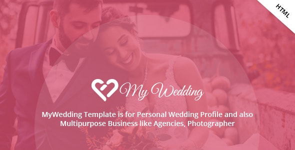 MyWedding - Responsive Wedding One Page Template - Wedding Site Templates