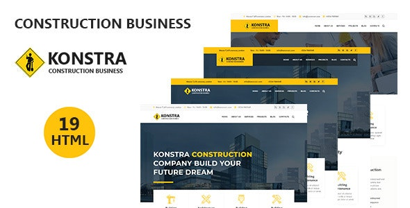 konstra - Construction Business HTML5 Template - Corporate Site Templates