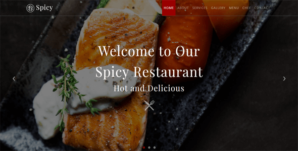Spicy_Restaurant HTML Template - Restaurants & Cafes Entertainment