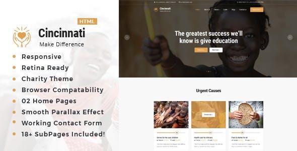 Cincinnati   Charity Non-Profit HTML5 Template