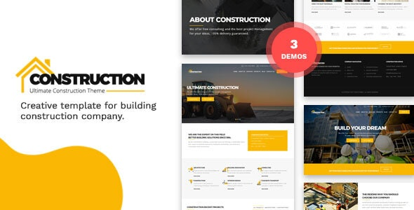 Construction and Building HTML Template - Corporate Site Templates