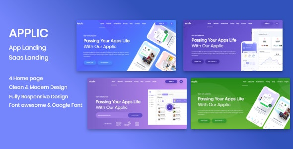 Applic - App Landing Page - Software Technology