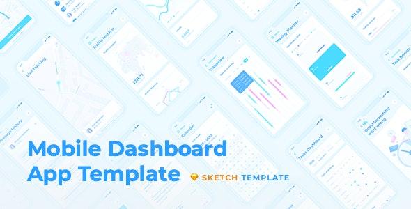 HIX App – Mobile Dashboard UI Kit for Sketch - Sketch Templates