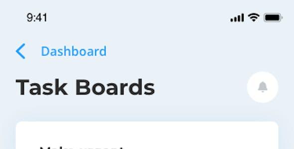 HIX App – Mobile Dashboard UI Kit for Sketch