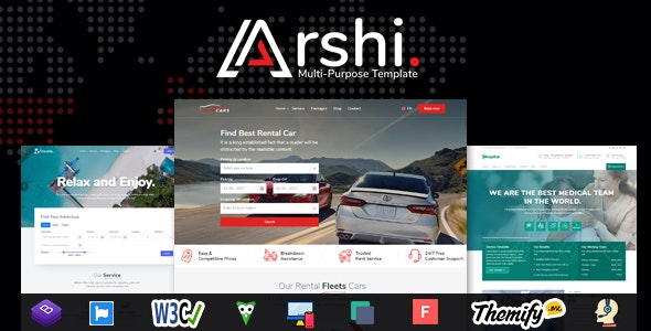 Arshi - Multipurpose All in one HTML Template - Site Templates