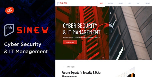 Sinew - Cyber Security & IT Management Theme - Business Corporate